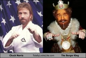Chuck Norris Totally Looks Like The Burger King
