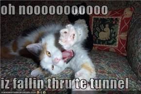 oh nooooooooooo  iz fallin thru te tunnel