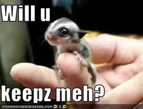 Will u   keepz meh?