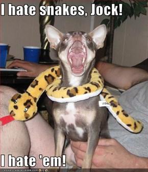 I hate snakes, Jock!  I hate 'em!