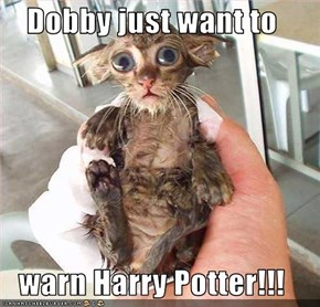 Dobby just want to   warn Harry Potter!!!