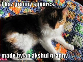 I haz granny squares...   made by an akshul granny