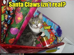 Santa Claws izn't real?
