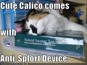 Cute Calico comes with  Anti-Splort Device