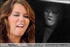 Miley Cyrus Totally Looks Like the Gremmlin from Twilight Zone