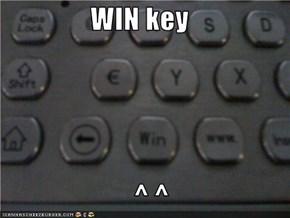 WIN key      ^ ^