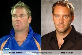 Shane Warne Totally Looks Like Trey Parker