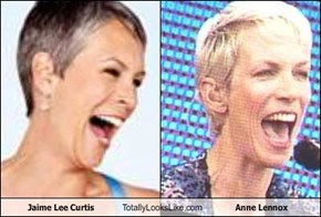 Jaime Lee Curtis Totally Looks Like Anne Lennox