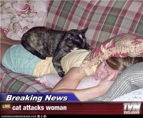 Breaking News - cat attacks woman