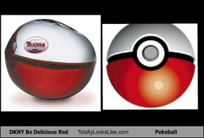 DKNY Be Delicious Red Totally Looks Like Pokeball