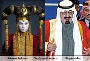 Princess Amidala Totally Looks Like King Abdullah