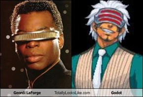 Geordi LaForge Totally Looks Like Godot