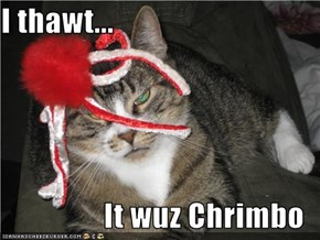 I thawt...  It wuz Chrimbo