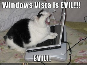 Windows Vista is EVIL!!!  EVIL!!