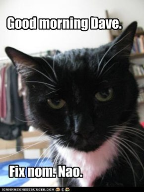 Good morning Dave.