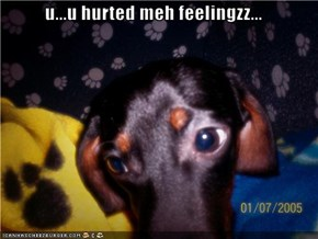 u...u hurted meh feelingzz...