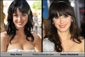 Katy Perry Totally Looks Like Zooey Deschanel