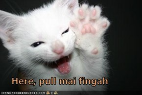 Here, pull mai fingah