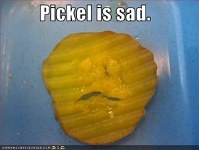 Pickel is sad.