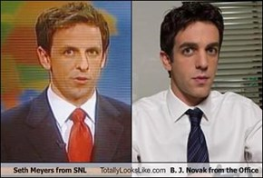 Seth Meyers from SNL Totally Looks Like B. J. Novak from the Office