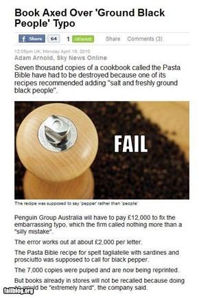 Recipe Fail