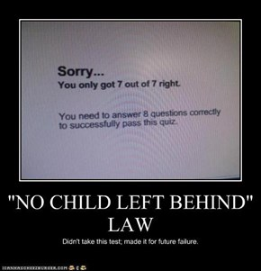 """NO CHILD LEFT BEHIND"" LAW"