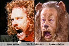 james hetfield Totally Looks Like the cowardly lion