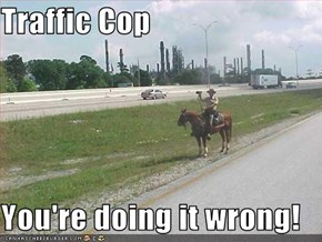Traffic Cop  You're doing it wrong!