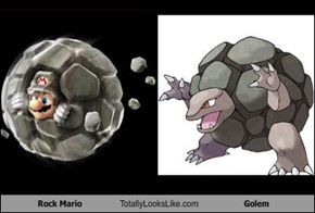 Rock Mario Totally Looks Like Golem
