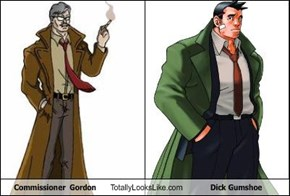 Commissioner  Gordon Totally Looks Like Dick Gumshoe