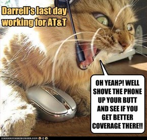 Darrell's last day working for AT&T