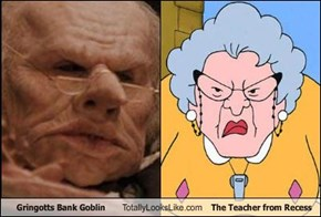 Gringotts Bank Goblin Totally Looks Like The Teacher from Recess