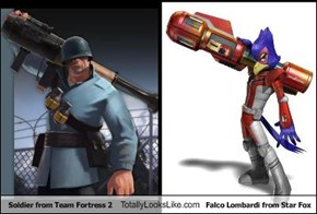 Soldier from Team Fortress 2 Totally Looks Like Falco Lombardi from Star Fox