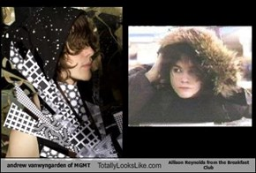 andrew vanwyngarden of MGMT Totally Looks Like Allison Reynolds from the Breakfast Club