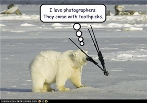 I love photographers.  They come with toothpicks.