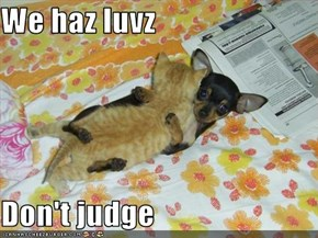 We haz luvz  Don't judge