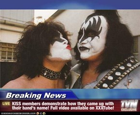 Breaking News - KISS members demonstrate how they came up with their band's name! Full video available on XXXTube!