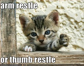 arm restle  or thumb restle