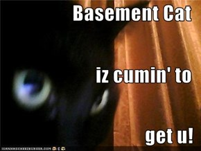 Basement Cat iz cumin' to get u!