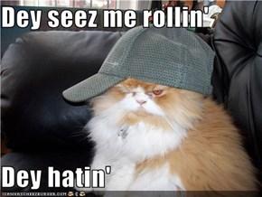 Dey seez me rollin'  Dey hatin'