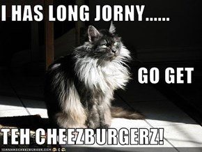 I HAS LONG JORNY...... GO GET TEH CHEEZBURGERZ!