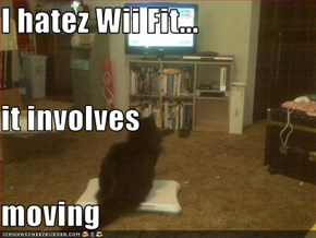 I hatez Wii Fit... it involves  moving