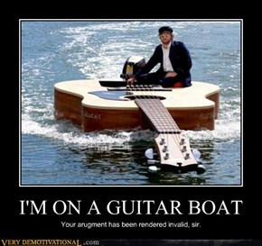 IM ON A GUITAR BOAT