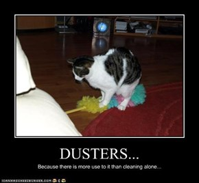 DUSTERS...