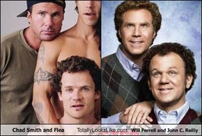 Chad Smith and Flea Totally Looks Like Will Ferrell and John C. Reilly
