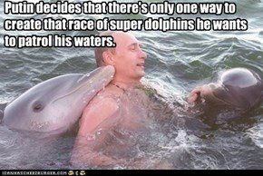 Putin decides that there's only one way to create that race of super dolphins he wants to patrol his waters.