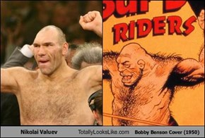 Nikolai Valuev Totally Looks Like Bobby Benson Cover (1950)