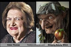 Helen Thomas Totally Looks Like Sleeping Beauty Witch