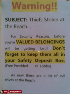 Please Return The Theives
