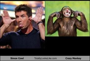 Simon Cowl Totally Looks Like Crazy Monkey